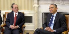 Obama praises Thein Sein's leadership leading Myanmar to democracy