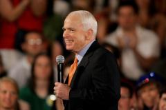Obama, McCain share stage with pastor