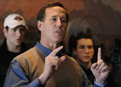 Santorum, Romney leave Paul behind in Iowa