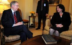 Sotomayor meets with Senate leaders
