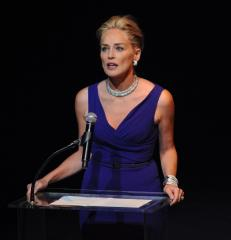 Happy mom Sharon Stone on the rebound
