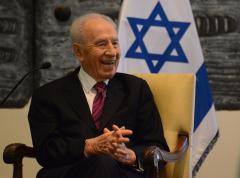 Israeli President Shimon Peres visits Anne Frank House