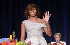 Michelle Obama wears Marchesa to the White House Correspondents' Dinner