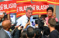 De Blasio leads in NYC Democratic mayoral primary; Lhota claims GOP