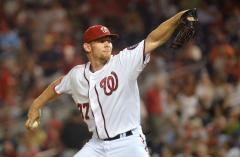 Nationals end ace Strasburg's season