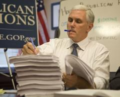 Pence says Indiana's healthcare law is good conservative alternative