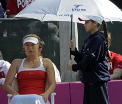 Sharapova survives shaky French outing