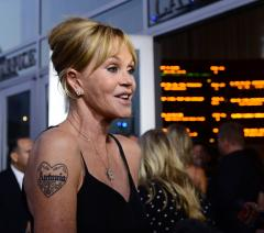 Melanie Griffith begins laser removal of 'Antonio' tattoo
