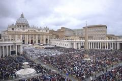 Pope Francis declares John Paul II and John XXXIII saints
