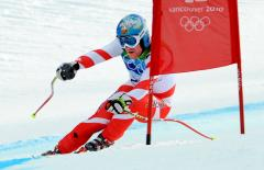 Cuche takes super-G at Crans-Montana