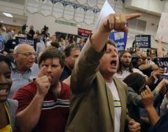 Healthcare town hall descends into chaos