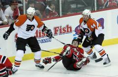 Flyers' Laperriere out for playoffs