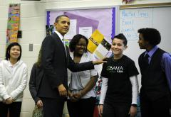 Obama meets with scientists of the future