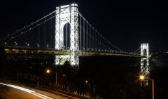 Two arrested after drones nearly collide with NYPD chopper over George Washington Bridge