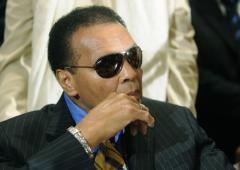 Ailing Muhammad Ali resting at home
