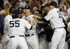MLB: New York Yankees 9, New York Mets 8