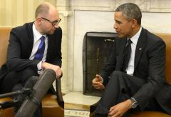 President Obama and Ukrainian PM meet to discuss Russia's incursion into Crimea