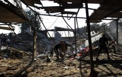 Israeli airstrikes in Gaza after mortar fire