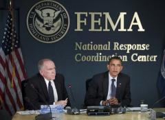 Obama attends hurricane preparedness panel