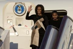Michelle Obama and daughters arrive in China for education-focused trip