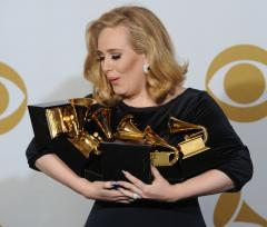Adele cleans up at Grammy Awards