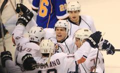 Oilers' Hall cut by skate in warmups
