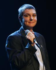 Sinead O'Connor debuts new red facial tattoos
