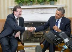 Obama, Rajoy talk economics, security at White House