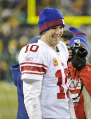 Eli Manning, sick, leaves practice