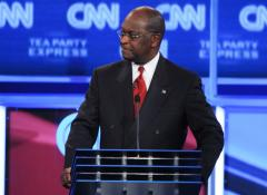Iowa Poll shows Cain, Romney in lead