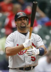 Pujols shocked by liner at pitcher