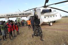 U.N. helicopter crashes in South Sudan; 3 dead, 1 survivor