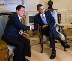 Aso's U.S. trip gets mixed reviews at home