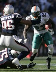 NFL: New England 27, Miami 17