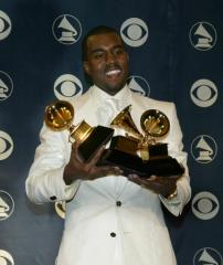 Kanye West keeps his Grammys in the laudry room, sock drawer