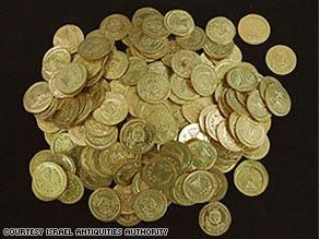 Ancient Gold Coin Hoard Found In Israel Jpg