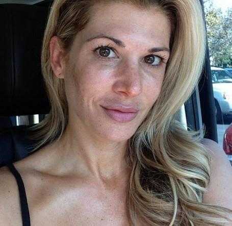 Real Houswife Alexis Bellino Shares Makeup Less Photo