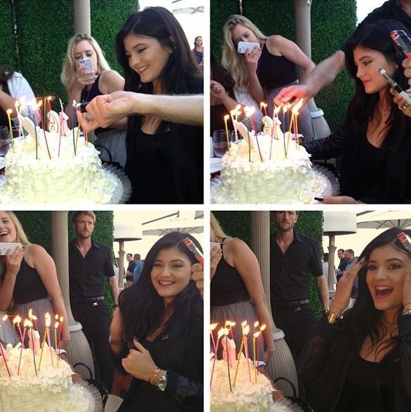 16th Birthday Haul Blog: Kylie-Jenner-celebrates-sweet-16-with-the-Kardashians