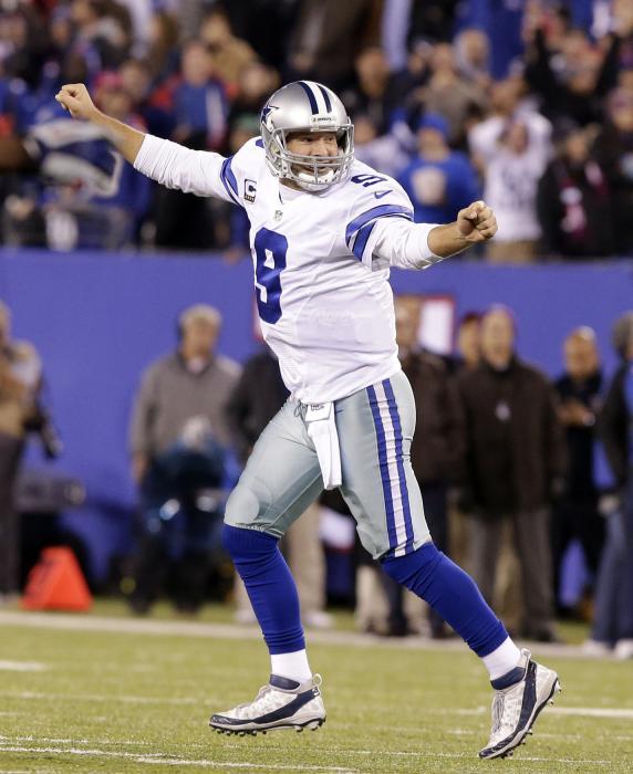 Romo rallies dallas cowboys past new york giants