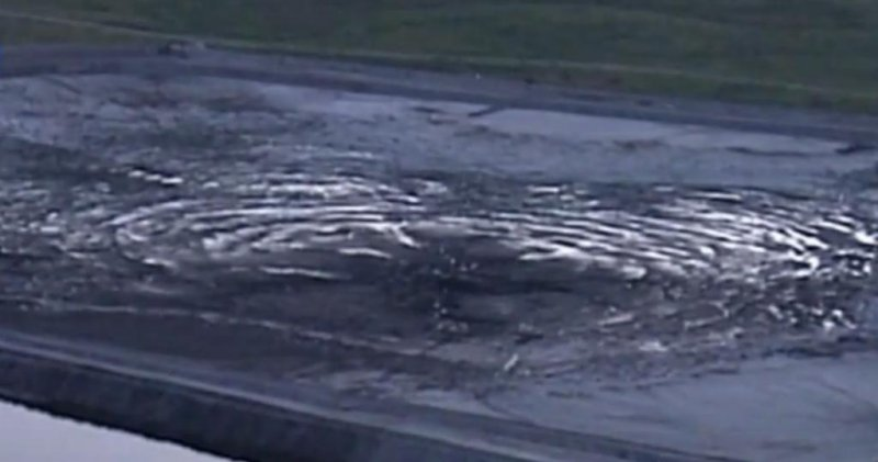 Sinkhole dumps reprocessed water into Florida aquifer