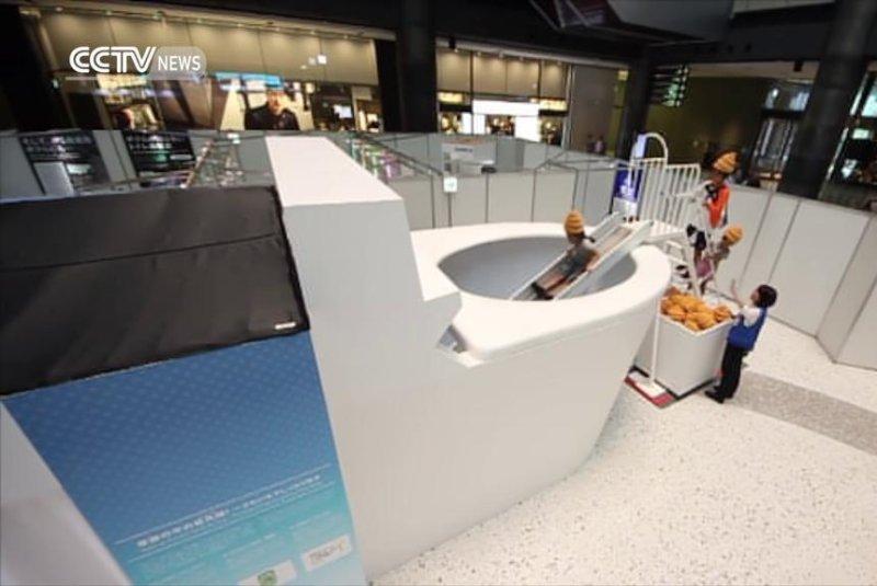 giant poop in toilet