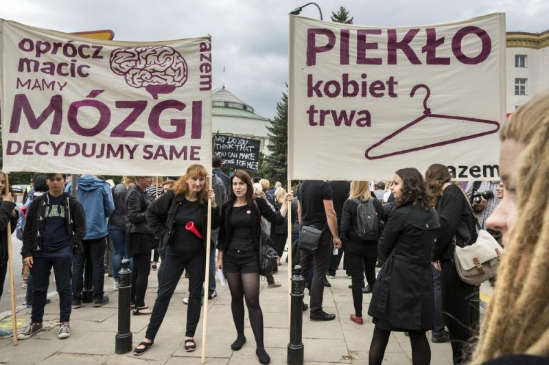 Dorset's Polish community march in protest on plans to change abortion laws