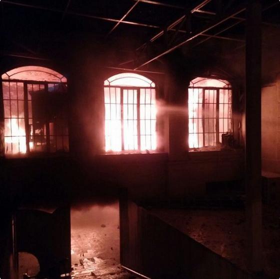 Iranians set fire to Saudi embassy