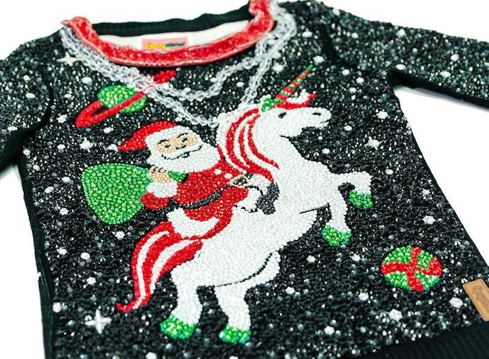 $30000 Swarovski crystal 'ugly Christmas sweater' for sale