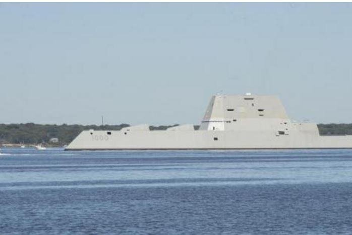 New Navy destroyer breaks down