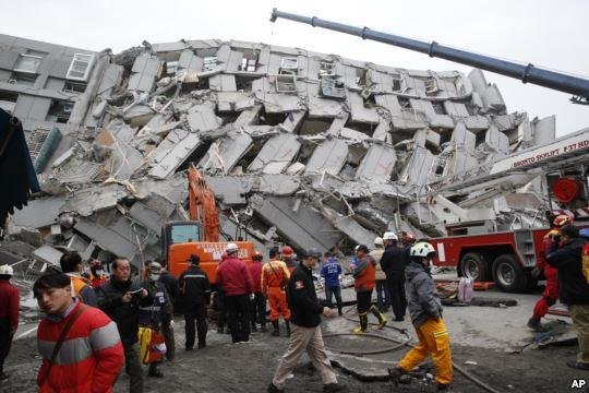 Death toll in magnitude-6.7 quake in Taiwan rises to 18