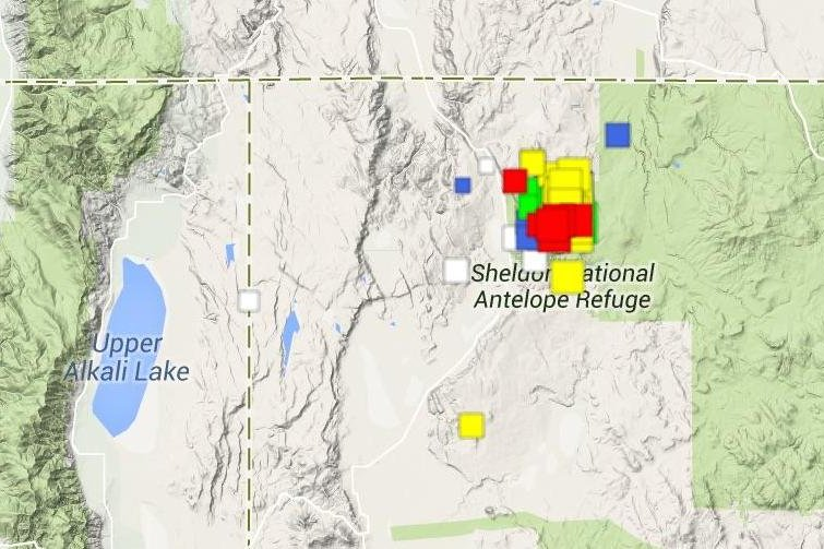 Nevada earthquake swarm