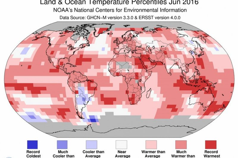 Climate trends continue with hottest June on record
