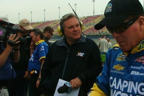 YORK, Oct. 9 (UPI) -- NASCAR on FOX on-air personality Steve Byrnes ...