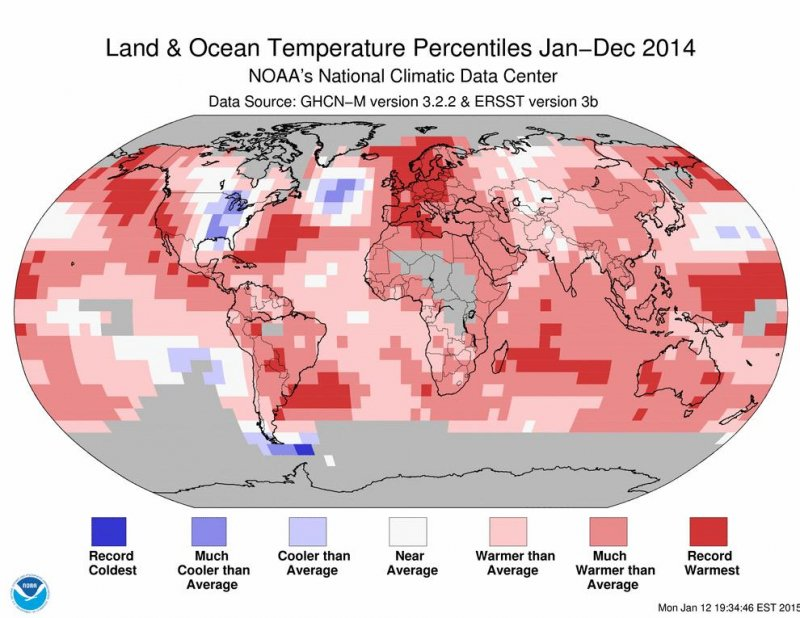 Hottest year on record- 2014